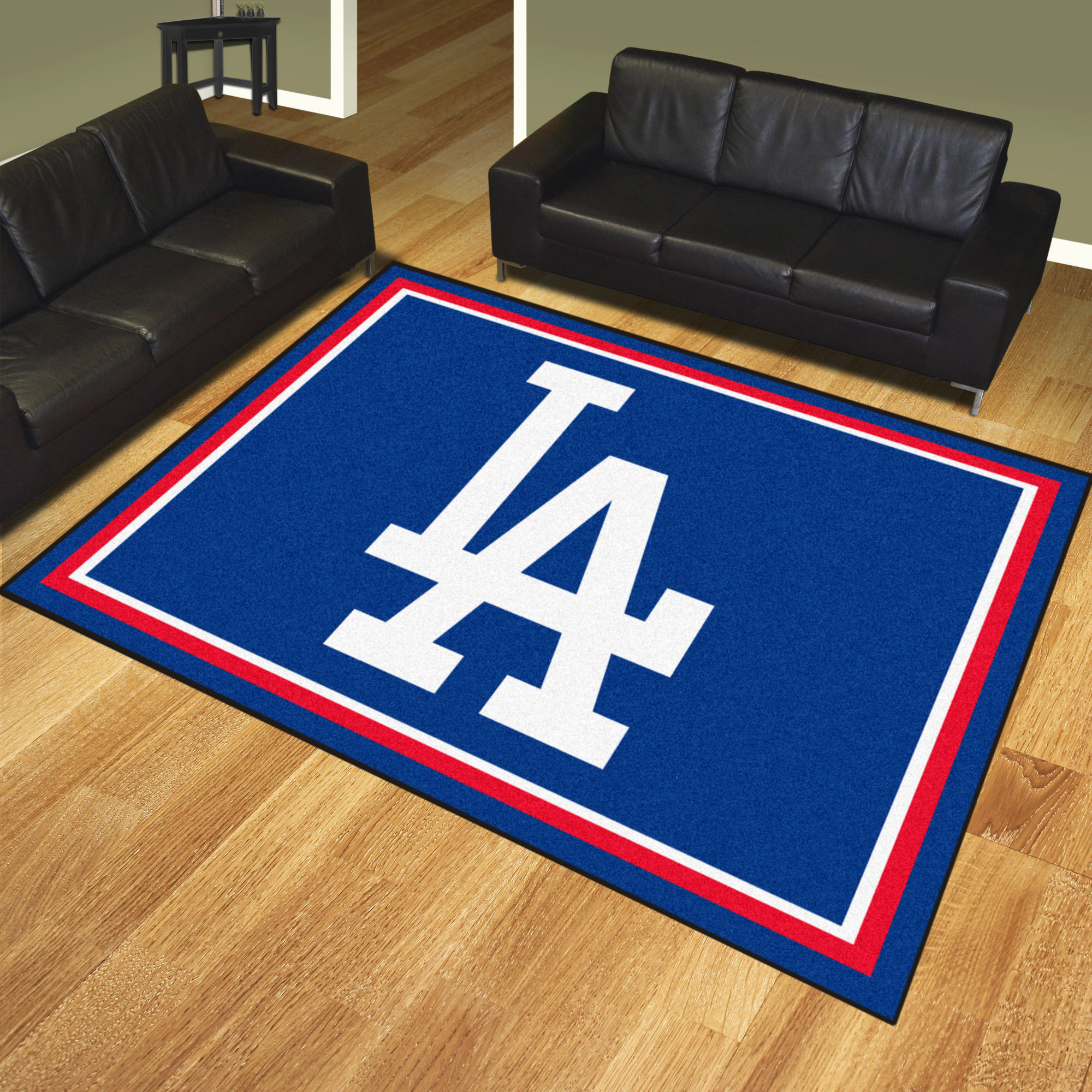 Los Angeles Dodgers LOGO Ultra Plush 8x10 Area Rug