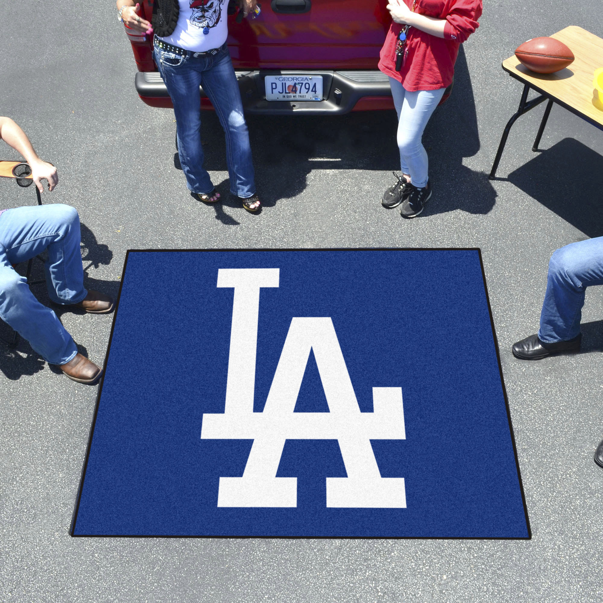 Los Angeles Dodgers LOGO TAILGATER 60 x 72 Rug