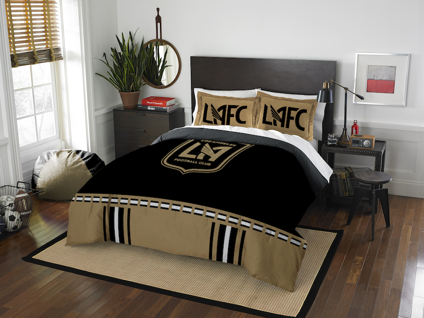Los Angeles Football Club QUEEN/FULL size Comforter and 2 Shams