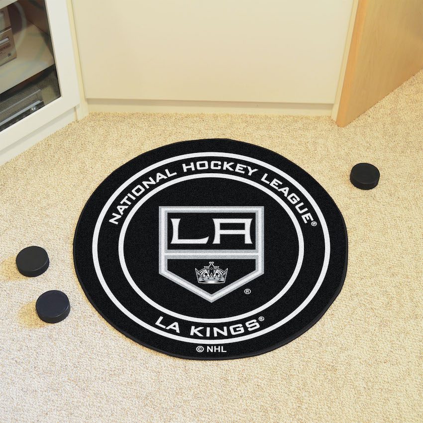 Los Angeles Kings Round Hockey Puck Mat