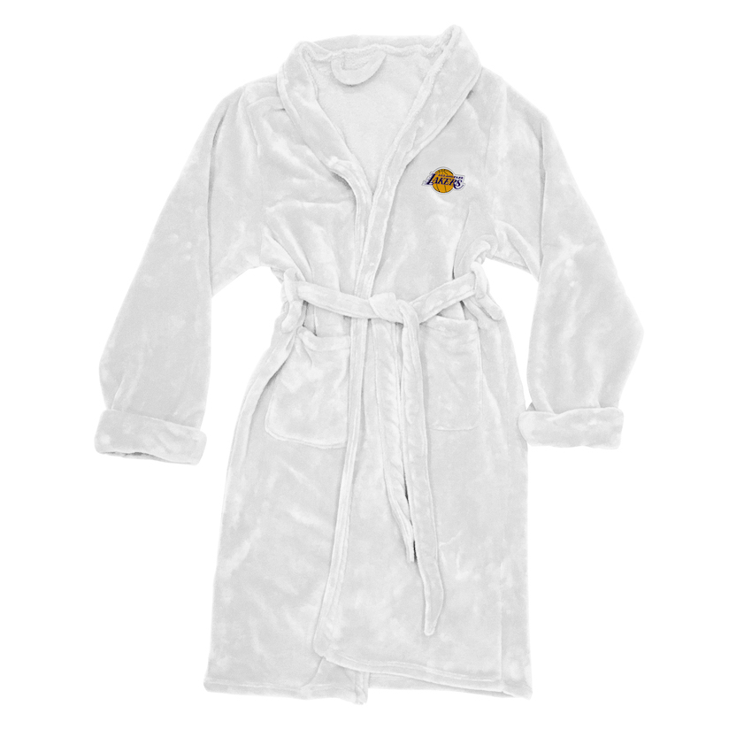 Los Angeles Lakers Mens Silk Touch Bath Robe (L/XL)