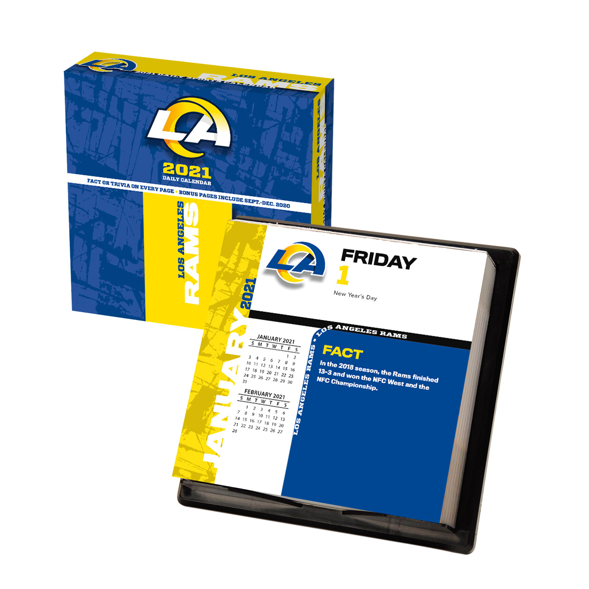 Los Angeles Rams 2018 Nfl Page A Day Box Calendar Buy At