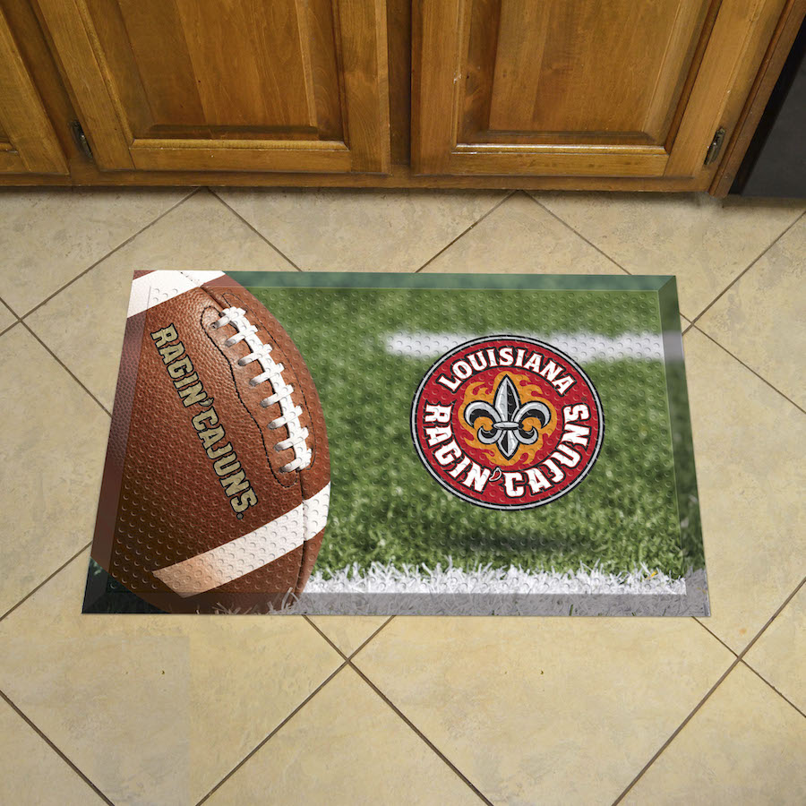 Louisiana Lafayette Ragin Cajuns Ball Style SCRAPER Door Mat