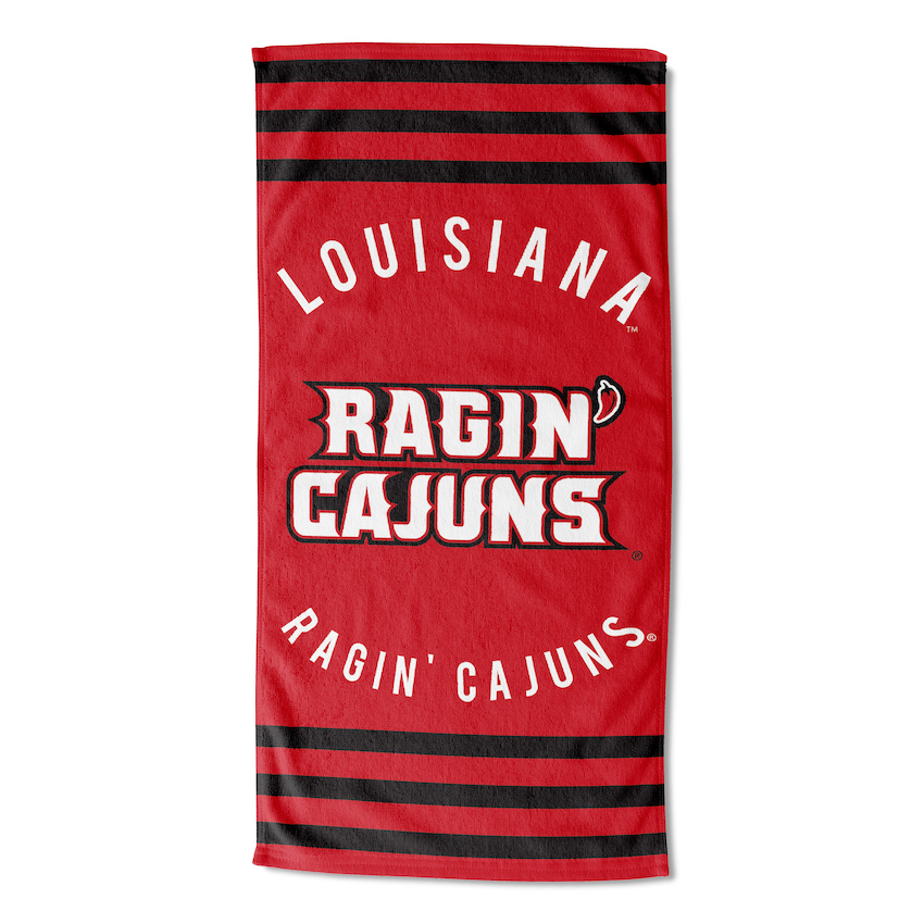 Louisiana Lafayette Ragin Cajuns Beach Towel