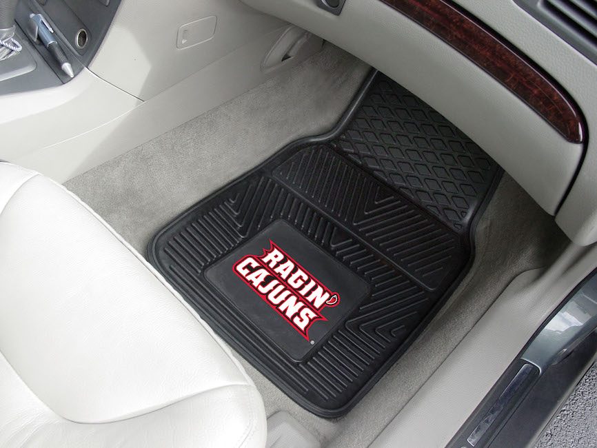 Louisiana Lafayette Ragin Cajuns Car Floor Mats 18 x 27 Heavy Duty Vinyl Pair