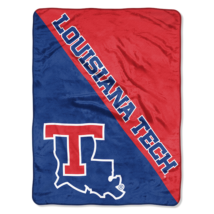 Louisiana Tech Bulldogs Micro Raschel 50 x 60 Team Blanket