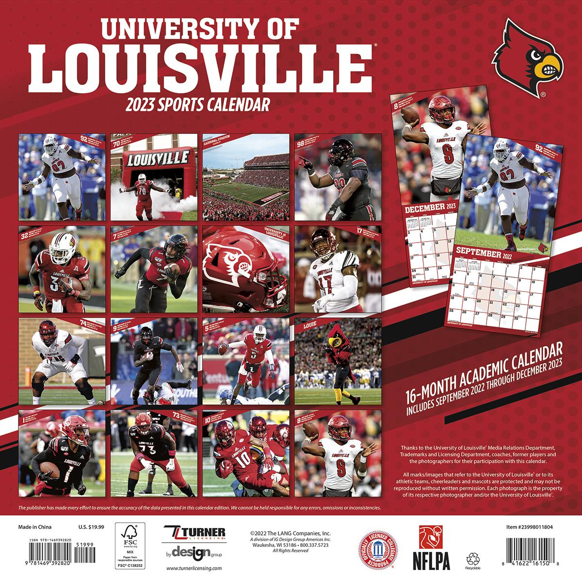 Louisville Cardinals 2019 Wall Calendar Buy At Khc Sports