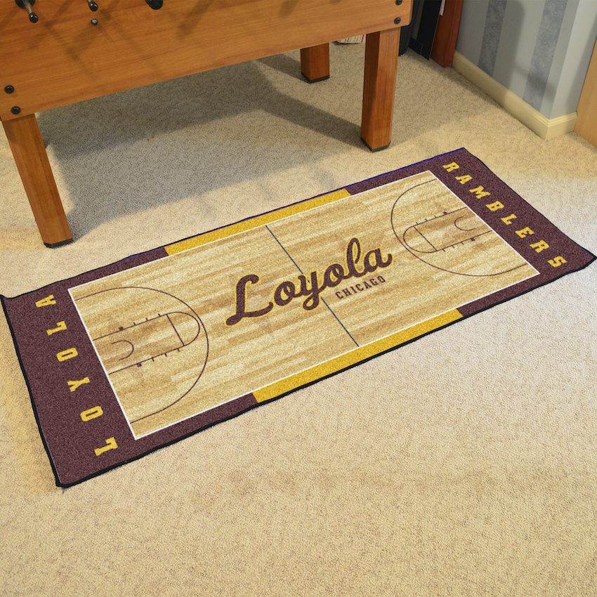 Loyola Chicago Ramblers 30 x 72 Basketball Court Carpet Runner