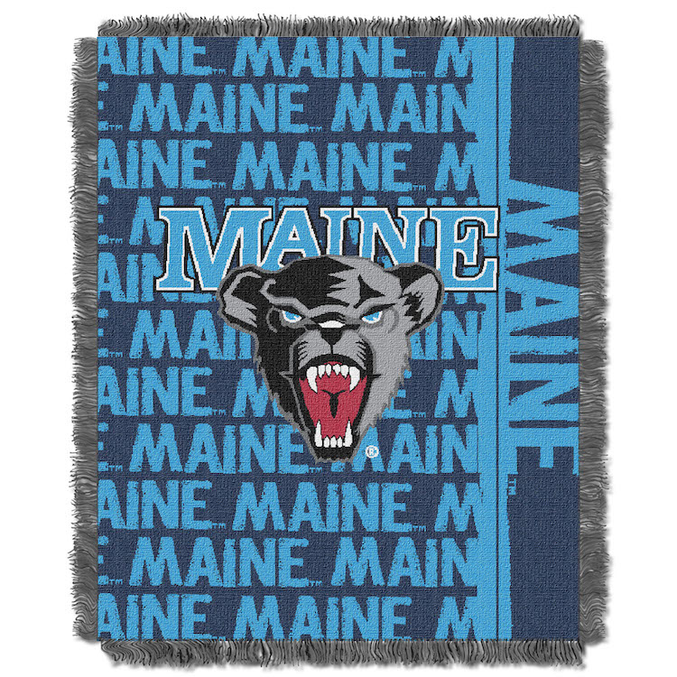 Maine Black Bears Double Play Tapestry Blanket 48 x 60