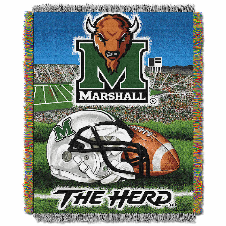 Marshall Thundering Herd Home Field Advantage Series Tapestry Blanket 48 x 60