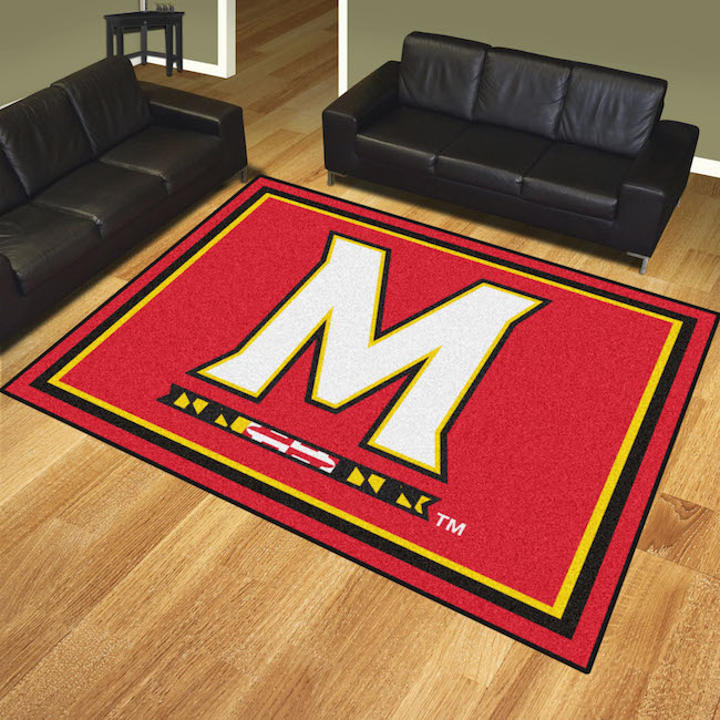 Maryland Terrapins Ultra Plush 8x10 Area Rug