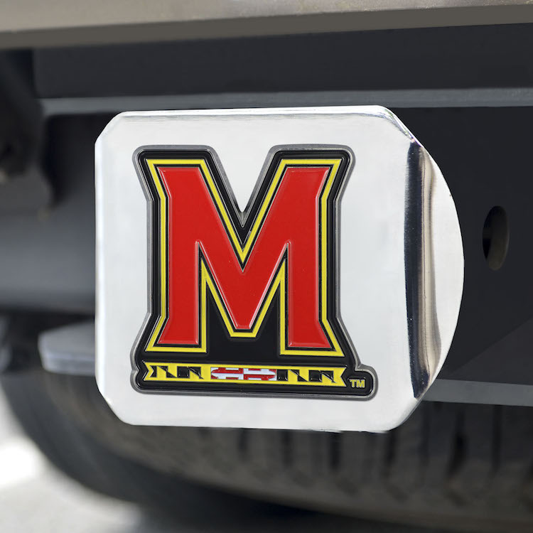 Maryland Terrapins Color Chrome Trailer Hitch Cover