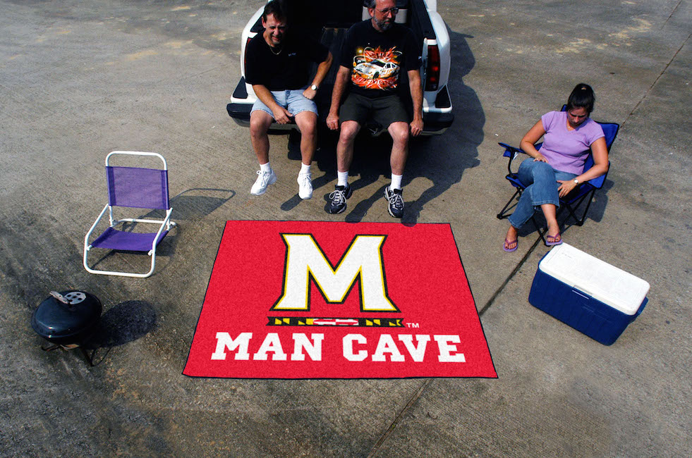 Maryland Terrapins MAN CAVE TAILGATER 60 x 72 Rug