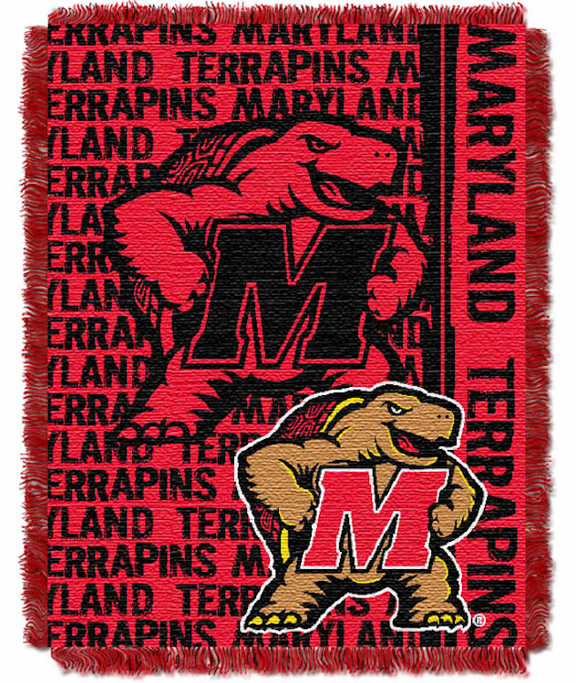 Maryland Terrapins Double Play Tapestry Blanket 48 x 60
