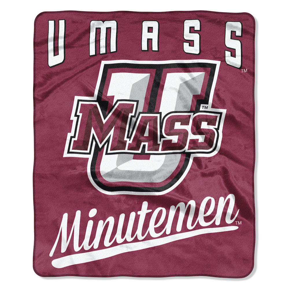 Massachusetts Minutemen Plush Fleece Raschel Blanket 50 x 60