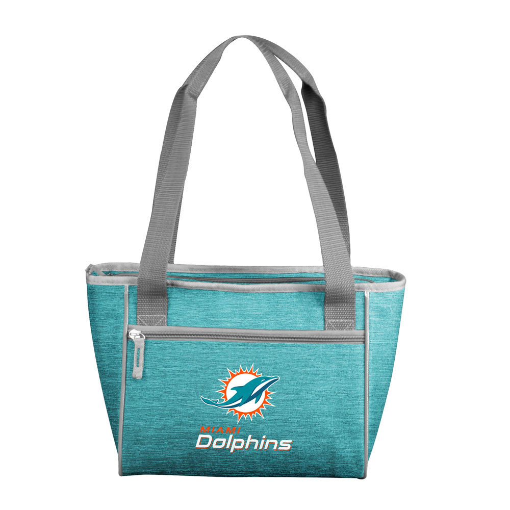 Miami Dolphins Crosshatch 16 Can Cooler Tote