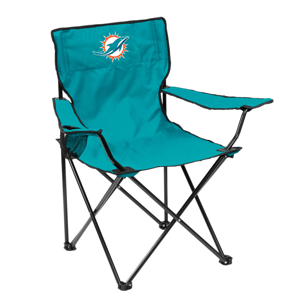 Miami Dolphins QUAD style logo folding camp chair