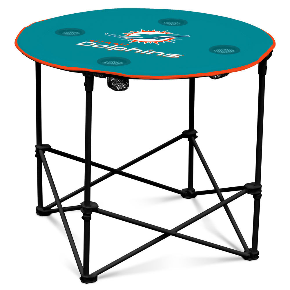Miami Dolphins Round Tailgate Table