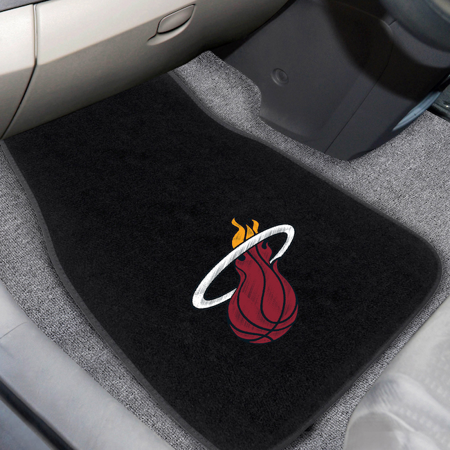 Miami Heat Car Floor Mats 17 x 26 Embroidered Pair