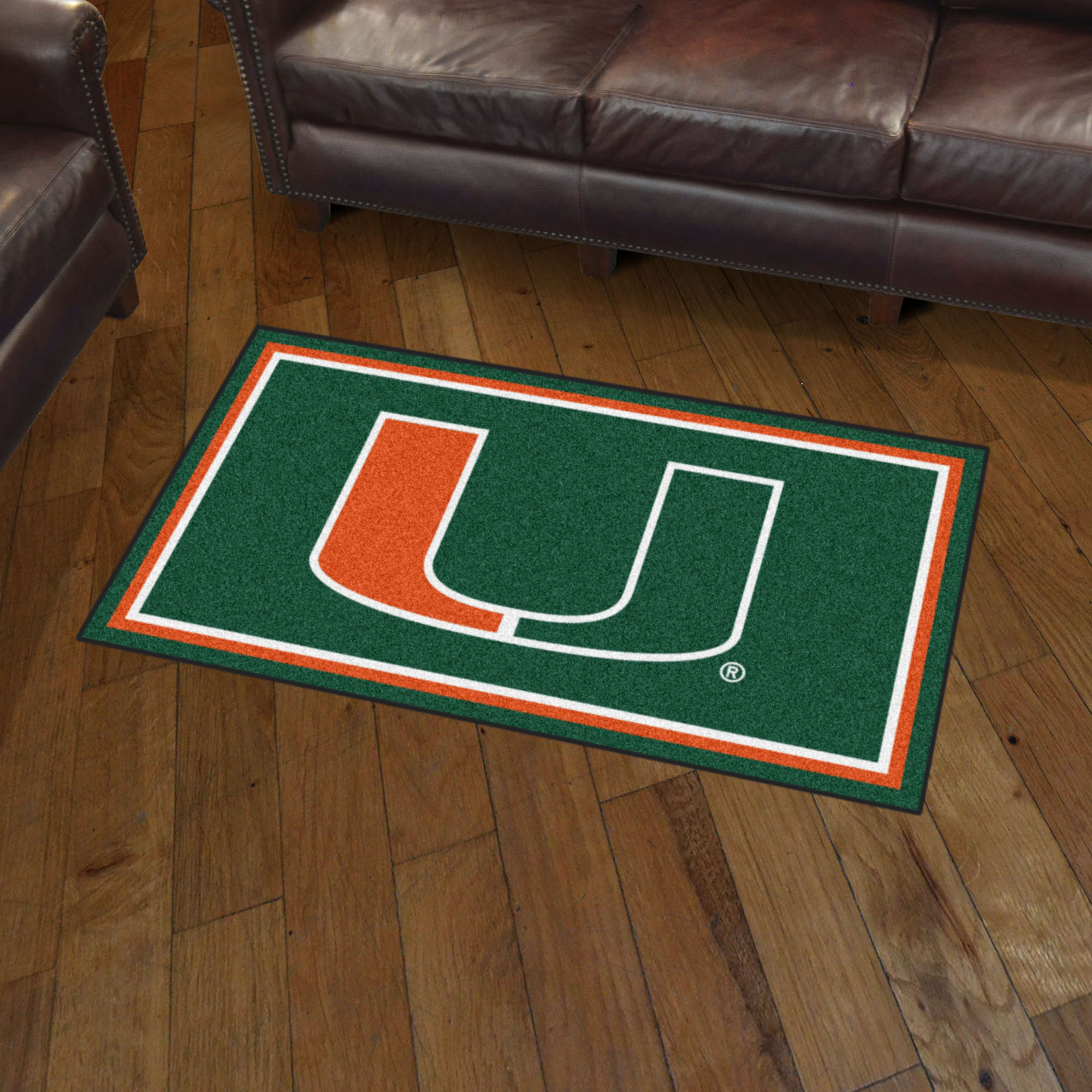 Miami Hurricanes 3x5 Area Rug