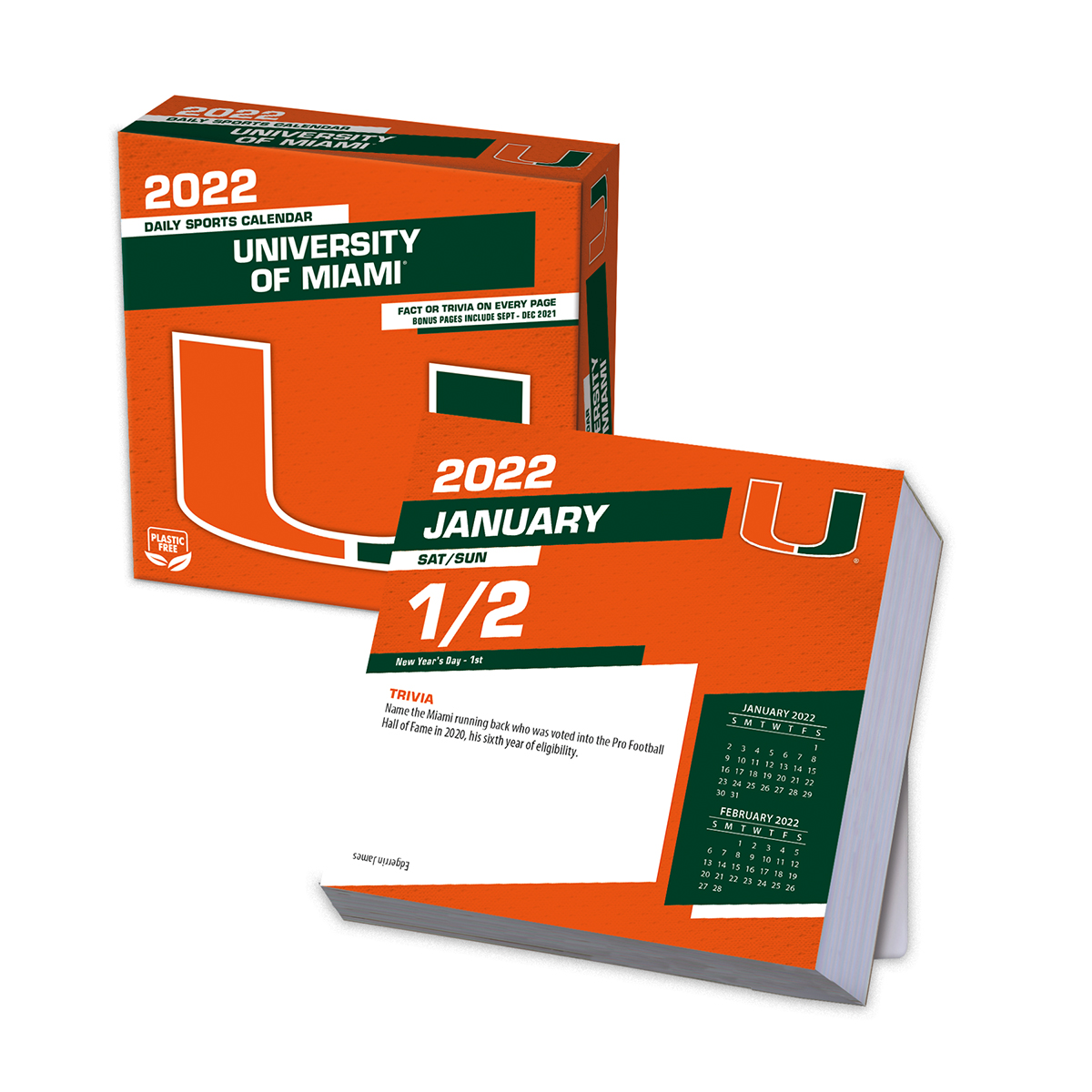Miami Hurricanes 2020 Page-A-Day Box Calendar