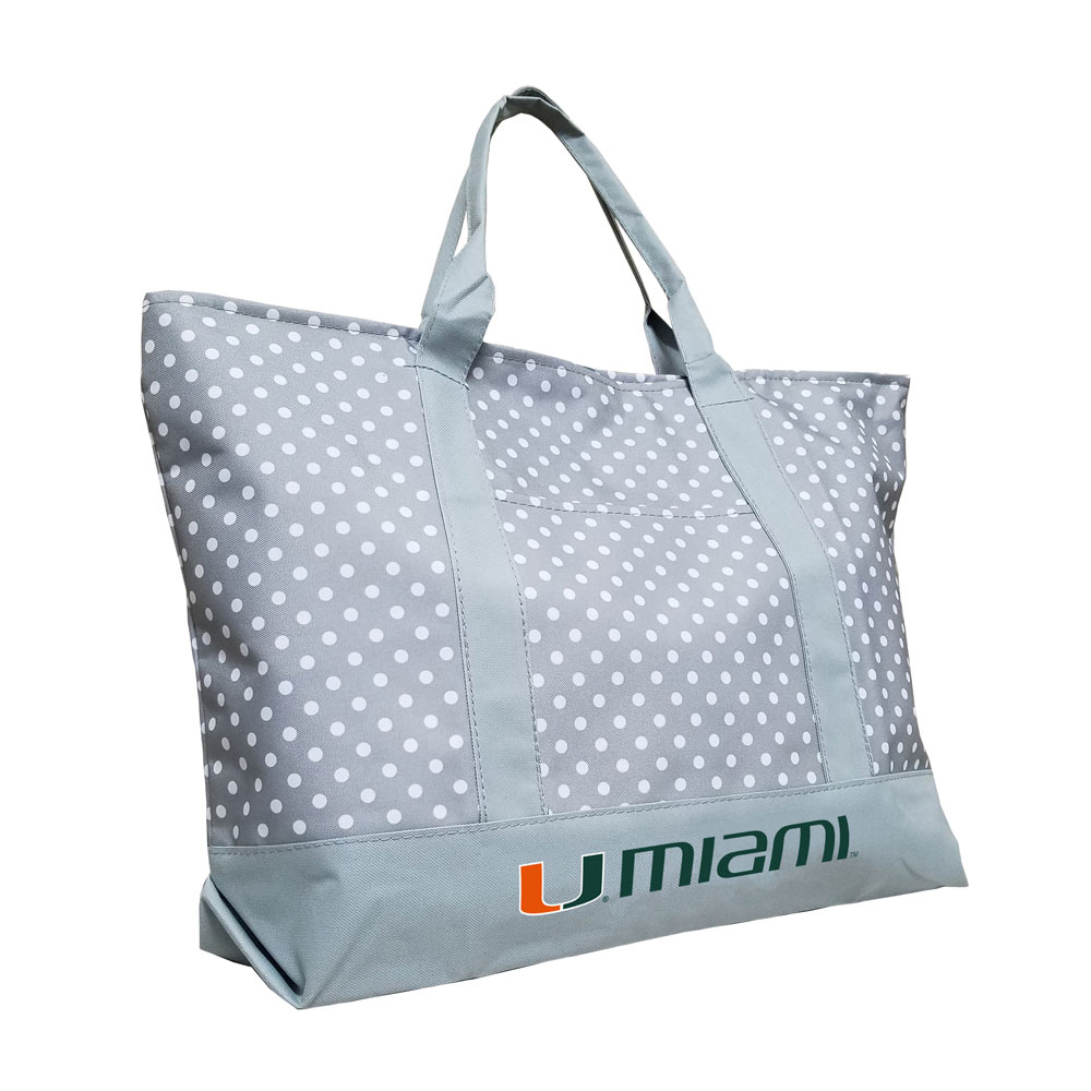 Miami Hurricanes Dot Tote Bag