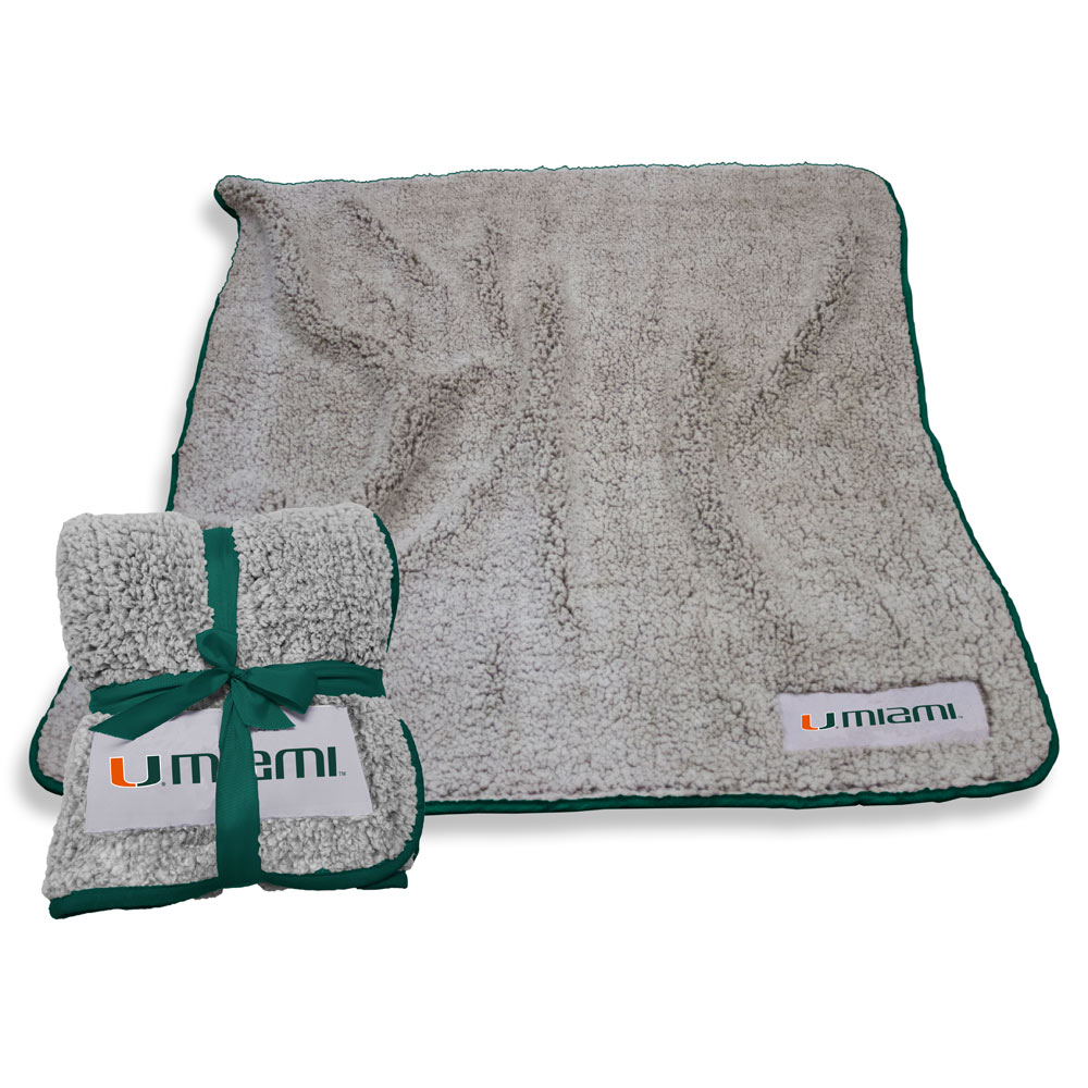 Miami Hurricanes Frosty Throw Blanket