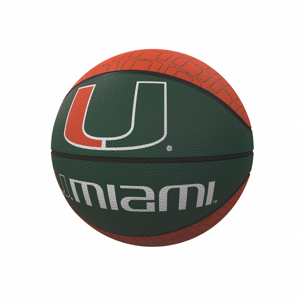 Miami Hurricanes MINI Size Rubber Basketball