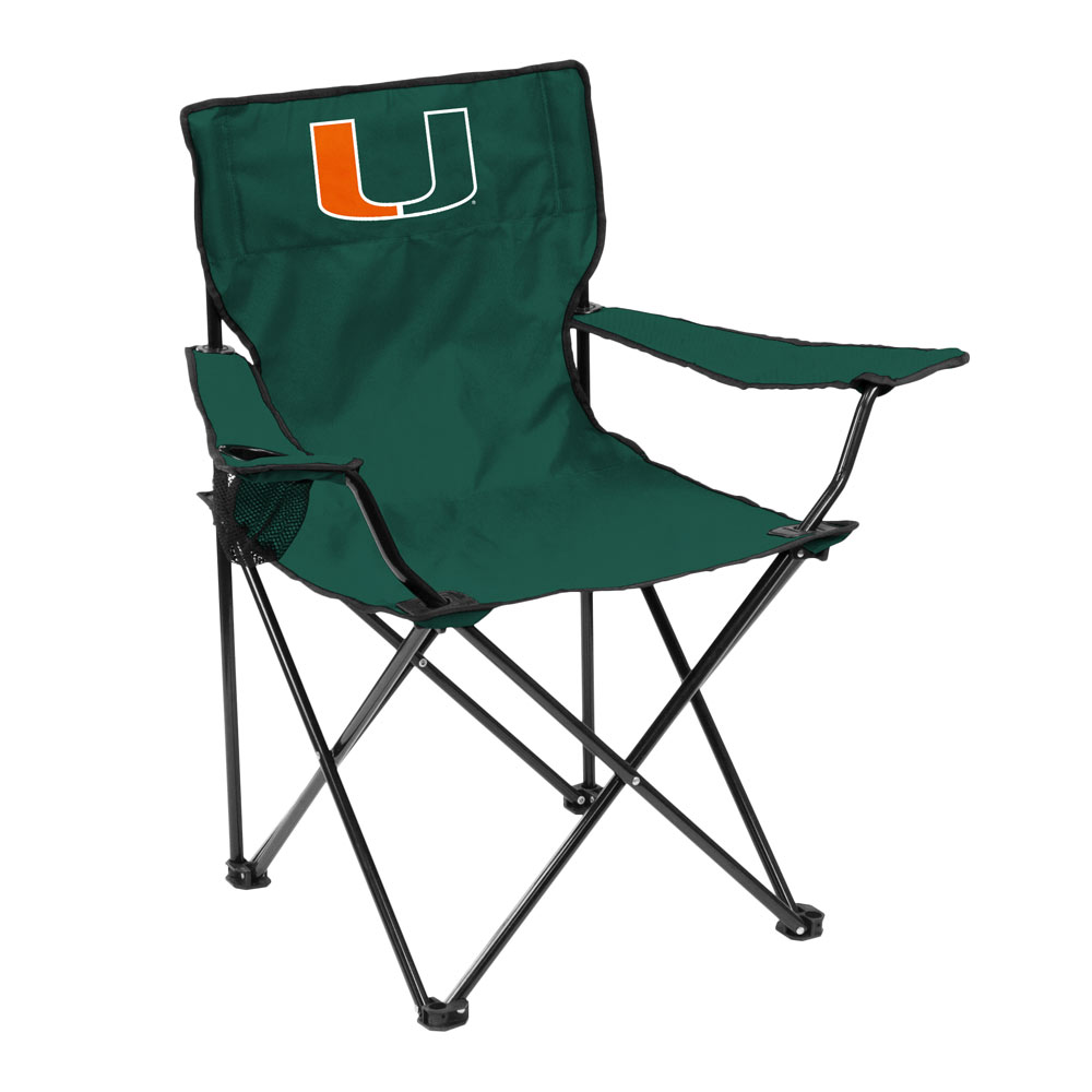 Miami Hurricanes QUAD style logo folding camp chair