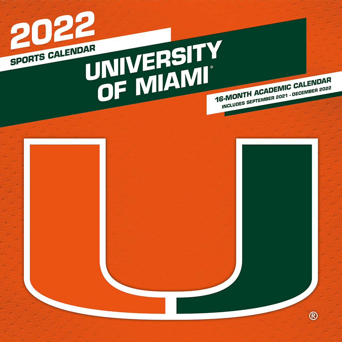 Miami Hurricanes 2020 Wall Calendar
