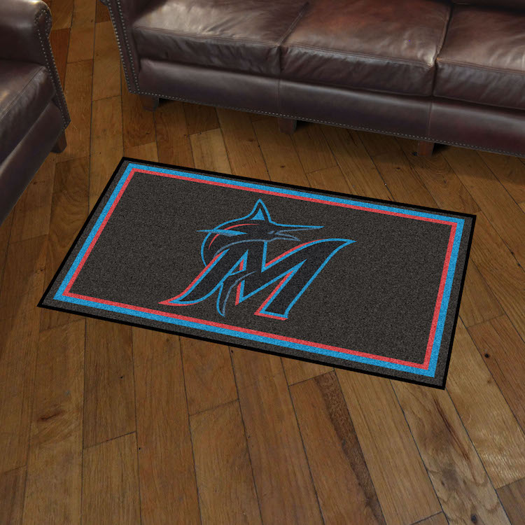 Miami Marlins 3x5 Area Rug