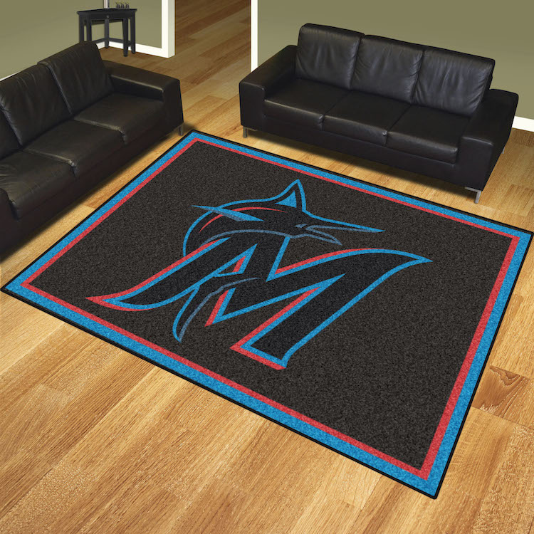 Miami Marlins Ultra Plush 8x10 Area Rug