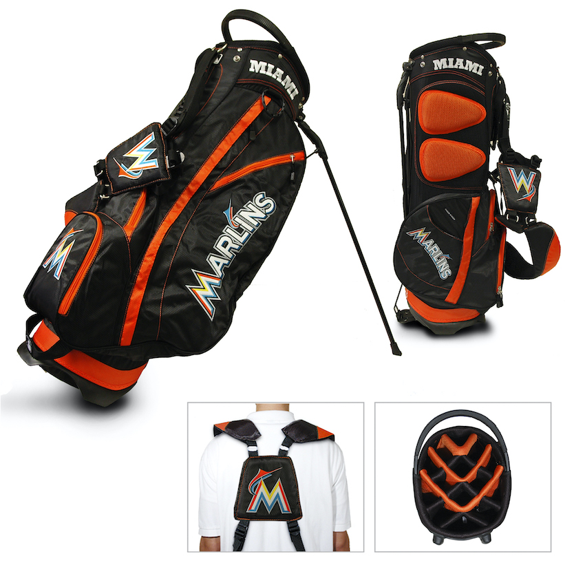 Miami Marlins Fairway Carry Stand Golf Bag