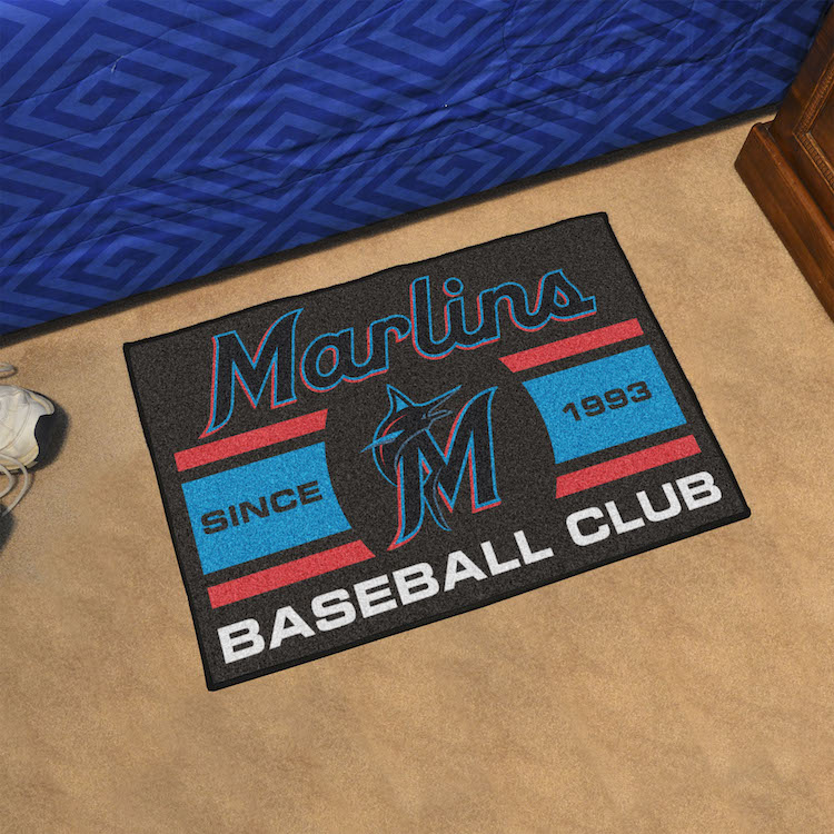 Miami Marlins 20 x 30 Uniform STARTER Floor Mat
