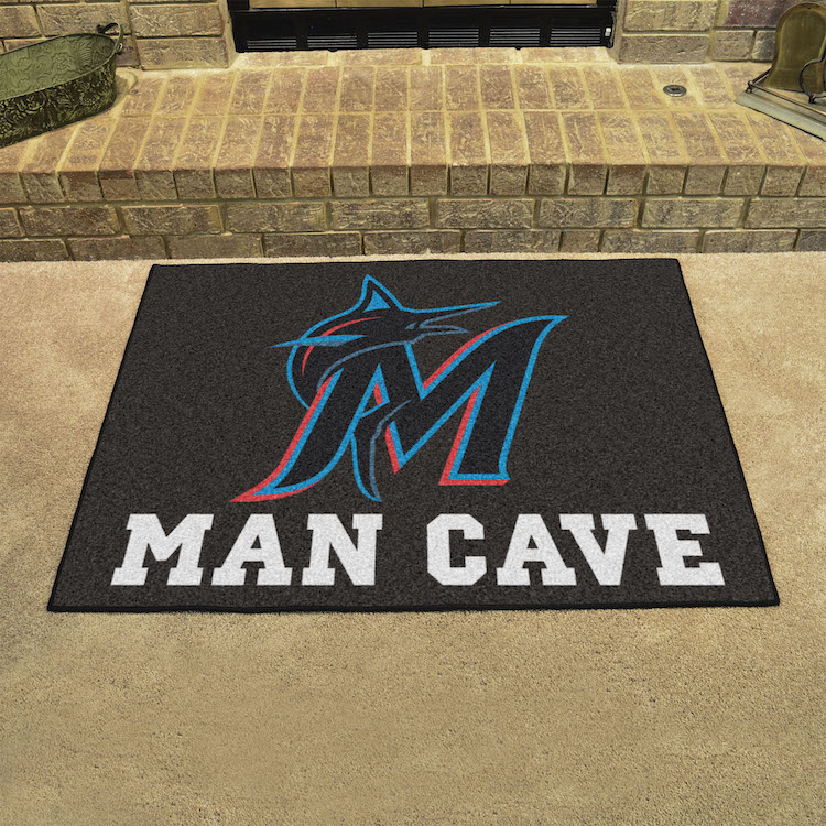 Miami Marlins ALL STAR 34 x 45 MAN CAVE Floor Mat