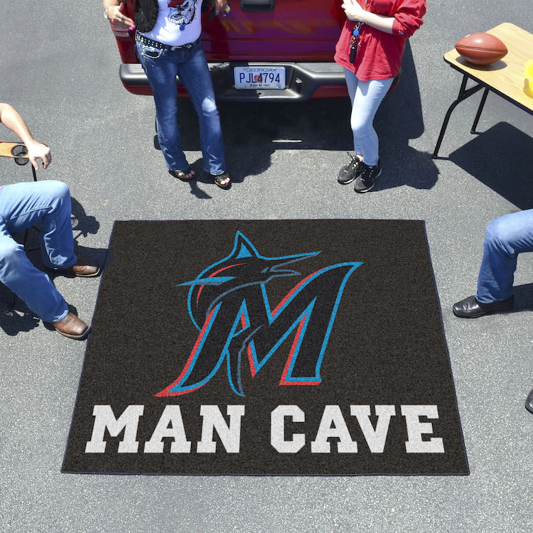 Miami Marlins MAN CAVE TAILGATER 60 x 72 Rug