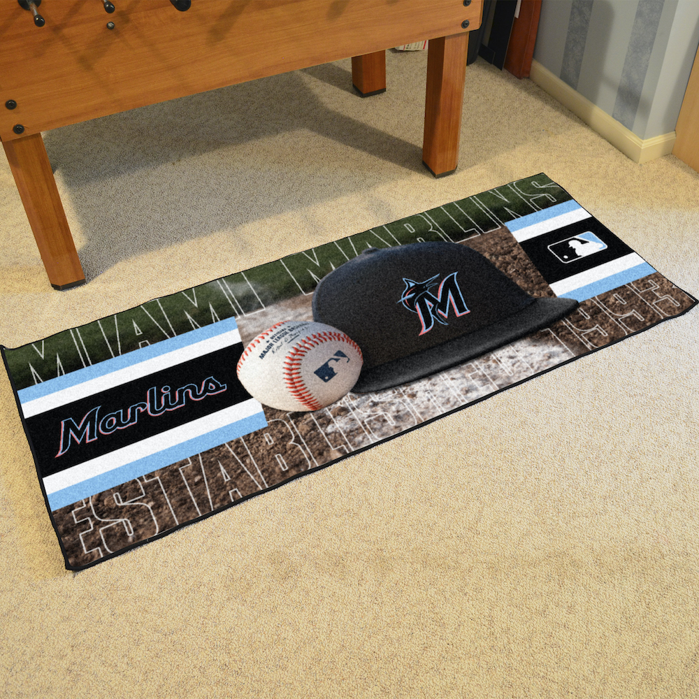 Miami Marlins 30 x 72 Baseball Carpet Runner