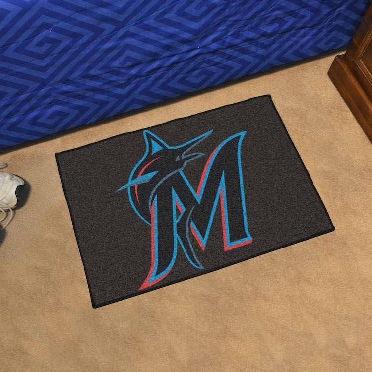 Miami Marlins 20 x 30 STARTER Floor Mat