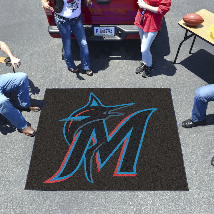 Miami Marlins TAILGATER 60 x 72 Rug