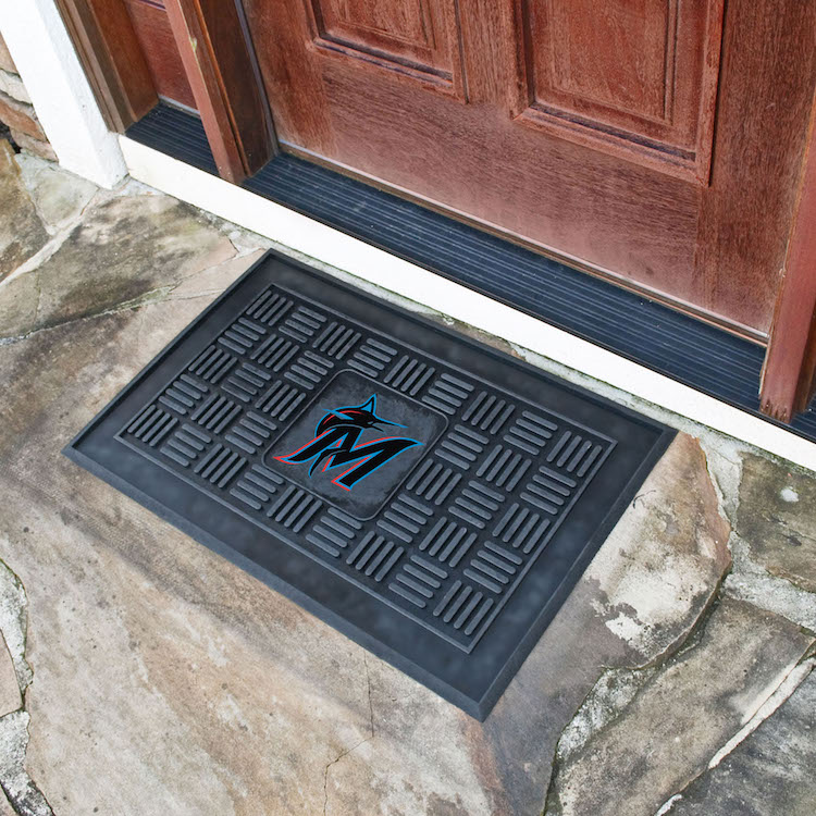Miami Marlins MEDALLION Vinyl Door Mat