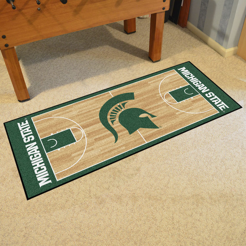 Michigan State Spartans 30 X 72 Basketball Court Carpet