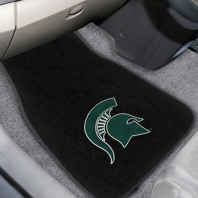 Michigan State Spartans Car Floor Mats 17 x 26 Embroidered Pair