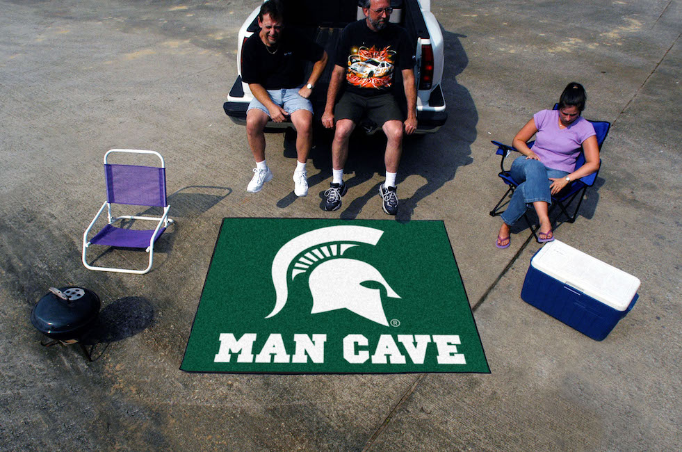 Michigan State Spartans MAN CAVE TAILGATER 60 x 72 Rug