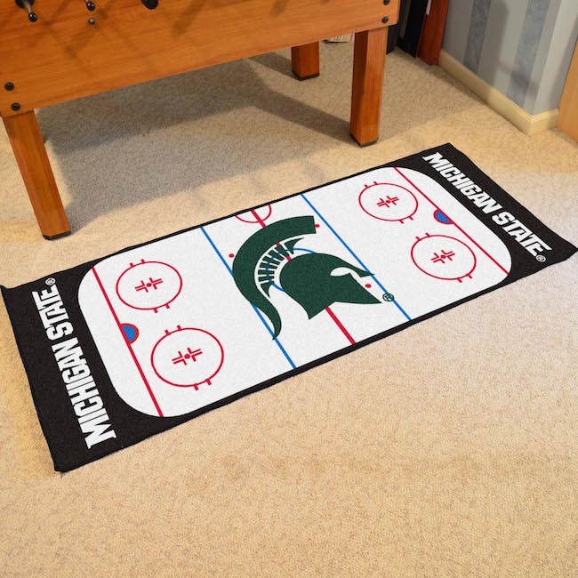 Michigan State Spartans Hockey Rink Runner 30 X 72 Floor