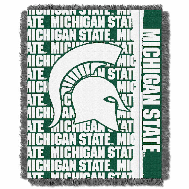 Michigan State Spartans Double Play Tapestry Blanket 48 x 60