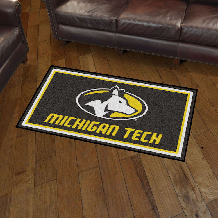 Michigan Tech Huskies 3x5 Area Rug