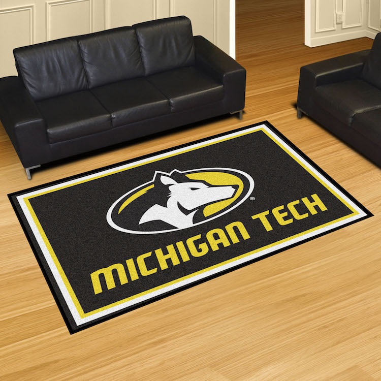 Michigan Tech Huskies 5x8 Area Rug