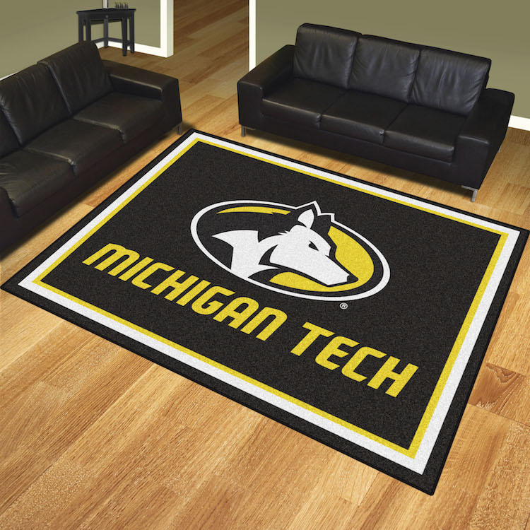 Michigan Tech Huskies Ultra Plush 8x10 Area Rug