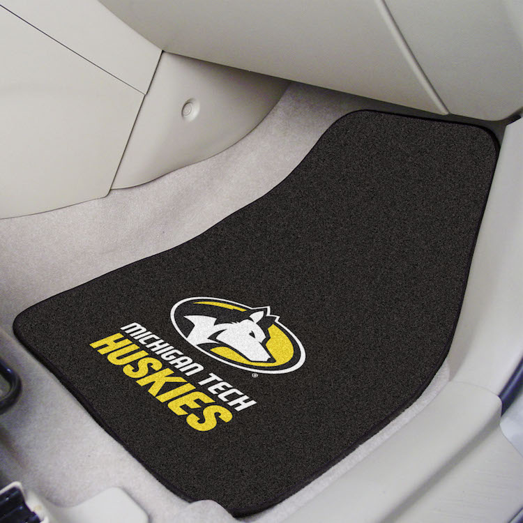 Michigan Tech Huskies Car Floor Mats 18 x 27 Carpeted-Pair