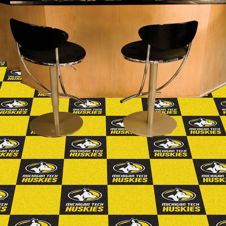 Michigan Tech Huskies Carpet Tiles 18x18 in.